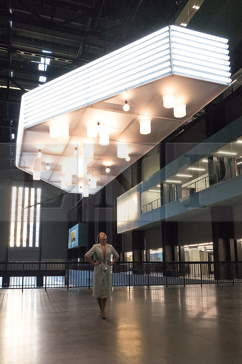 © Licensed to London News Pictures. 03/10/2016. London, UK. 'Anywhere' installation in the Tate Modern Turbine Hall by artist Philippe Parreno. Photo credit: Rob Pinney/LNP