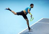 Tennis - 2019 Nitto ATP Finals at The O2 - Day Three<br /> <br /> Singles Group Bjorn Borg: Roger Federer (Switzerland) vs. Matteo Berrettini (Italy)<br /> <br /> Matteo Berrettini (Italy)<br /> <br /> COLORSPORT/ANDREW COWIE