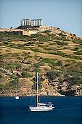 Griekenland, Sounion, 5-7-2008Kaap Sounion, tempel van Poseidon, de god van de zee in de Griekse klassieke oudheid.Foto: Flip Franssen