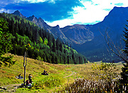 Dolina Małej Łąki - widok na górskie szczyty z Wielkiej Polany Małołąckiej, Tatry, Polska<br /> Dolina Małej Łąki - view of mountain peaks from Wielka Polana Małołącka, Tatra Mountains, Poland