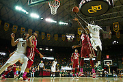 WACO, TX - JANUARY 24: Deng Deng #45 of the Baylor Bears drives to the basket against the Oklahoma Sooners on January 24, 2015 at the Ferrell Center in Waco, Texas.  (Photo by Cooper Neill/Getty Images) *** Local Caption *** Deng Deng