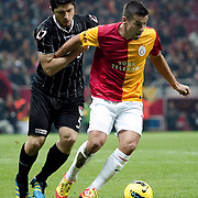 Galatasaray's Milan Baros (R) during their Turkish Super League soccer match Galatasaray between Manisaspor at the TT Arena at Seyrantepe in Istanbul Turkey on Wednesday, 21 December 2011. Photo by TURKPIX