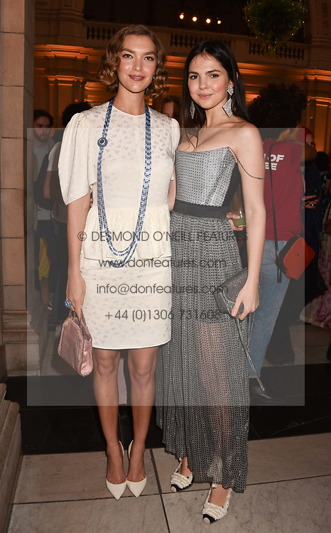 Left to right, Arizona Muse and Doina Ciobanu at Fashioned From Nature held at The V&A Museum, London, England. 18 April 2018.