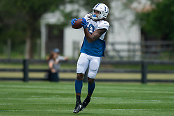July 28, 2018 - Westfield, IN, U.S. - WESTFIELD, IN - JULY 28: Indianapolis Colts wide receiver Reece Fountain (10) runs through a drill during the Indianapolis Colts training camp practice on July 28, 2018 at the Grand Park Sports Campus in Westfield, IN. (Photo by Zach Bolinger/Icon Sportswire) (Credit Image: © Zach Bolinger/Icon SMI via ZUMA Press)