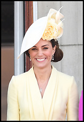 June 8, 2019 - London, London, United Kingdom - Trooping the Colour. Duchess of Sussex and Prince Harry join  HM Queen Elizabeth II accompanied by other members of the Royal Family attends Trooping the Colour in central London. (Credit Image: © Andrew Parsons/i-Images via ZUMA Press)