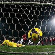 Besiktas's scores during their Turkish Super League soccer match Genclerbirligi between Besiktas at the 19 Mayis stadium in Ankara Turkey on Monday, 26 January 2015. Photo by Kurtulus YILMAZ/TURKPIX