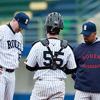 Baseball - European Cup 2009 - Nettuno (Italy) - 01/04/2009 - L&D Amsterdam v Rouen Baseball '76 - Robin Roy, Keino Perez, David Gauthier