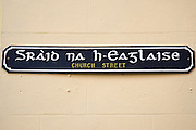 Bilingual road sign  English and Scottish Gaelic street name, Stornoway, Outer Hebrides, UK