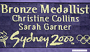 2000 Olympic Regatta, Sydney, NSW, AUSTRALIA, International Rowing centre, Penrith Lakes;  USA LW 2X  Bow Christine Collins and Sarah Garner. Photo  Peter Spurrier. .email images@intersport-images.. 2000 Olympic Regatta Sydney International Regatta Centre (SIRC) 2000 Olympic Rowing Regatta00085138.tif