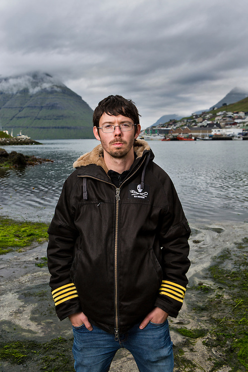 """Sweden's 29 year old Peter Hammarstedt, captain of Sea Shepherd's MY Bob Barker, travels around the world to fight for the marine animals, also referred to as the organizations """"clients"""". Peter is one of the leaders of the Sea Shepherd's Faroe Islands campaign of """"Grindstop 2014.""""  Operation Grindstop is Sea Shepherd's largest effort to date to stop the traditional Pilot Whale slaughter in the Faroe Islands.<br /> <br /> Peter stands on the killing beach in Klaksvik (the second largest town in the Faroe Islands, on the island of Borðoy) where he witnessed 236 pilot whales slaughtered.  With the event still fresh in his mind Peter's interest is in preventing anything like that from ever happening again. Since it's last presence in the Faroe Islands in 2011 Sea Shepherd larger in numbers and this summer 500 volunteers from all over the world have joined the operation in the Faroe Islands with one equal goal: To stop the killing.<br /> <br /> The Sea Shepard campaign, referred to as Operation GrindStop 2014, holds no authority, but volunteers nonetheless are prepared to go to jail to protect these marine animals."""