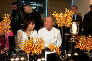 SUSAN GOODE; NOBU MATSUHISA;, The Tomodachi ( Friends) Charity Dinner hosted by Chef Nobu Matsuhisa in aid of the Japanese Tsunami Appeal. Nobu Park Lane. London. 4 May 2011. <br /> <br />  , -DO NOT ARCHIVE-© Copyright Photograph by Dafydd Jones. 248 Clapham Rd. London SW9 0PZ. Tel 0207 820 0771. www.dafjones.com.