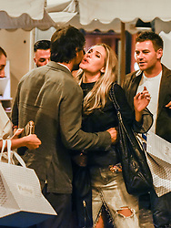 EXCLUSIVE: Excl. As Roma former star Francesco Totti and showgirl wife Ilary Blasi are spotted dinig at Pierluigi's restaurant downtown Rome. 15 Sep 2017 Pictured: Ilary Blasi. Photo credit: AM1999 / MEGA TheMegaAgency.com +1 888 505 6342