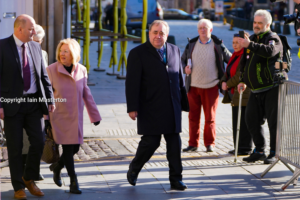 Edinburgh, Scotland, UK. 19 March, 2020.  Alex Salmond arrives  the High Court in Edinburgh with his wife Moira on the ninth day of his trial. Iain Masterton/Alamy Live News