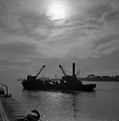 1957 View of Dublin Docks