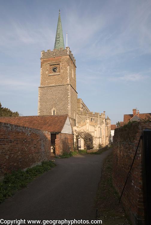 Parish church of Saint James, Nayland village, Essex, England