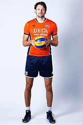 20150506 NED: Selectie Nederlands volleybal team mannen, Arnhem<br />Op Papendal werd het Nederlands team volleybal seizoen 2015-2016 gepresenteerd / Thomas Koelewijn<br />©2015-FotoHoogendoorn.nl / Pim Waslander