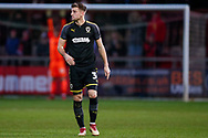 Wimbledon defender Ben Purrington (3), on loan from Rotherham United,  during the The FA Cup 3rd round match between Fleetwood Town and AFC Wimbledon at the Highbury Stadium, Fleetwood, England on 5 January 2019.