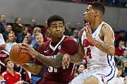 DALLAS, TX - NOVEMBER 25: Anton Beard #31 of the Arkansas Razorbacks drives to the basket against the SMU Mustangs on November 25, 2014 at Moody Coliseum in Dallas, Texas.  (Photo by Cooper Neill/Getty Images) *** Local Caption *** Anton Beard