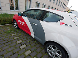 Vehicle operated under carsharing business operated by Deutsche Bahn  in Berlin Germany