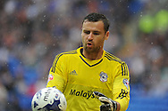 Cardiff city goalkeeper David Marshall looks on. Skybet football league championship match, Cardiff city v Wolverhampton Wanderers at the Cardiff city stadium in Cardiff, South Wales on Saturday 22nd August 2015.<br /> pic by Andrew Orchard, Andrew Orchard sports photography.