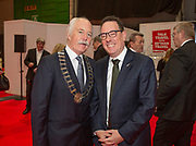 Ambassodor's reception at Holiday World RDS 2019 Friday.<br /> Pic shows John Spollen (Dir Cassidy Travel) and<br /> Brad Burgess  Ambassador New Zealand) at the event today.<br /> Pic Gary Ashe.25/1/2019