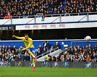 Football - 2018 / 2019 FA Cup - Third Round: Queens Park Rangers vs. Leeds United<br /> <br /> Leeds United's Lewis Baker drives in the free kick that lead to Aapo Halme's equaliser after Queens Park Rangers' Matt Ingram spilled the ball, at Loftus Road.<br /> <br /> COLORSPORT/ASHLEY WESTERN