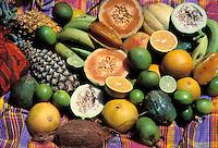 Various fruits - Martinique (French département d'outre Mer - DOM) - France<br /> French West Indie - Antilles françaises<br /> Caribbean