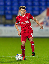 BIRKENHEAD, ENGLAND - Tuesday, September 29, 2020: Liverpool's Owen Beck during the EFL Trophy Northern Group D match between Tranmere Rovers FC and Liverpool FC Under-21's at Prenton Park. Tranmere Rovers won 3-2. (Pic by David Rawcliffe/Propaganda)