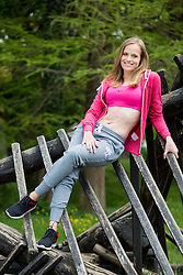 Brina Mljac posing during official photo shoot of Miss Sporta Slovenije 2016, on April 23, 2016 in Tivoli, Ljubljana, Slovenia. Photo by Vid Ponikvar / Sportida