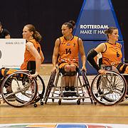 NLD/Rotterdam/20190706 - BN'ers spelen rolstoelbasketbal, Ilse Arts, Carina de Rooij en Jitske Visser