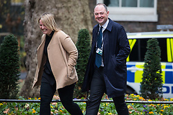 London, UK. 4th December, 2018. James Slack, Official Spokesman for No. 10, arrives at 10 Downing Street for a Cabinet meeting on the day on which MPs will begin to debate Prime Minister Theresa May's Brexit agreement in the House of Commons.