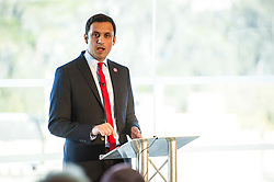 Pictured: Anas Sarwar<br /> The Scottish Labour leadership candidate Anas Sarwar presented his vision for Scotland's future today in Edinburgh.<br /> <br /> Ger Harley | EEm 25 October 2017