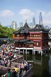 View of teahouse in YuYuan Garden in Shanghai China