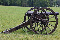 July 2007: Civil War Canon, Chickamauga National Park in Georgia. Attractions near Chattanooga Tennessee. Point Park, National Park Service - Lookout Mountain, TN.