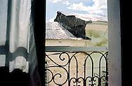 Sun shower through a hotel window in Sorata. Bolivia.