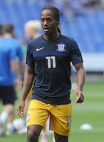 Preston North End's Daniel Johnson during the pre-match warm-up <br /> <br /> Photographer Ian Cook/CameraSport<br /> <br /> Football - The EFL Sky Bet Championship - Reading v Preston North End - Saturday 6th August 2016 - Madejski Stadium - Reading <br /> <br /> World Copyright © 2016 CameraSport. All rights reserved. 43 Linden Ave. Countesthorpe. Leicester. England. LE8 5PG - Tel: +44 (0) 116 277 4147 - admin@camerasport.com - www.camerasport.com