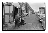 Mechanics in Deptford, London, 1982. South-East London, 1982