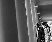 WASHINGTON, D.C. - MAY 15: President Donald Trump and First Lady Melania Trump walk from the Oval Office to recognize Americans that have gone above and beyond to help others during the COVID-19 pandemic in the Rose Garden of the White House in Washington, D.C. on May 15, 2020. NYTVIRUS
