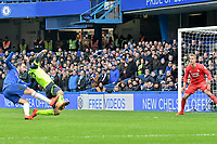 Football - 2018 / 2019 Premier League - Chelsea vs. Huddersfield Town<br /> <br /> Gonzalo Higuaín of Chelsea shoots at goal, at Stamford Bridge.<br /> <br /> COLORSPORT/WINSTON BYNORTH