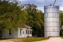 Along historic Route 66 in central Illinois stands the now dormant Funks Grove grain elevator and scale house