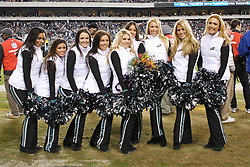 Philadelphia Eagles Cheerleaders pose for a picture with Lauren who was recognized for being named as a Pro Bowl Cheerleader during the NFL game between the Denver Broncos and the Philadelphia Eagles on December 27th 2009. The Eagles won 30-27 at Lincoln Financial Field in Philadelphia, Pennsylvania. (Photo By Brian Garfinkel)