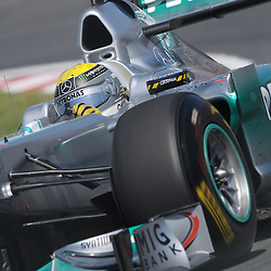 German Nico Rosberg pilots the Mercedes GP Petronas MGP W02 during practice for the 2011 Formula 1 Canadian Grand Prix, Montral, QC.
