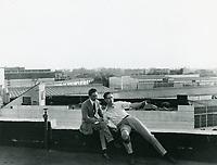 1921 Alex Klepper & Robert Florey at Goldwyn Studios in Culver City