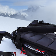 Mammut Snowpulse airbag backpack for avalanche safety.