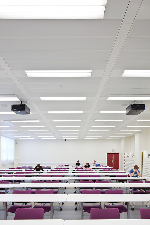 imperial college london. residential. lecture theatre. bgs architects.
