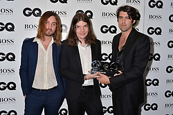 Kevin Parker, Dominic Simper and Cam Avery of Tame Impala at the GQ Men of The Year Awards 2016 in association with Hugo Boss held at Tate Modern, London on 6th September 2016.