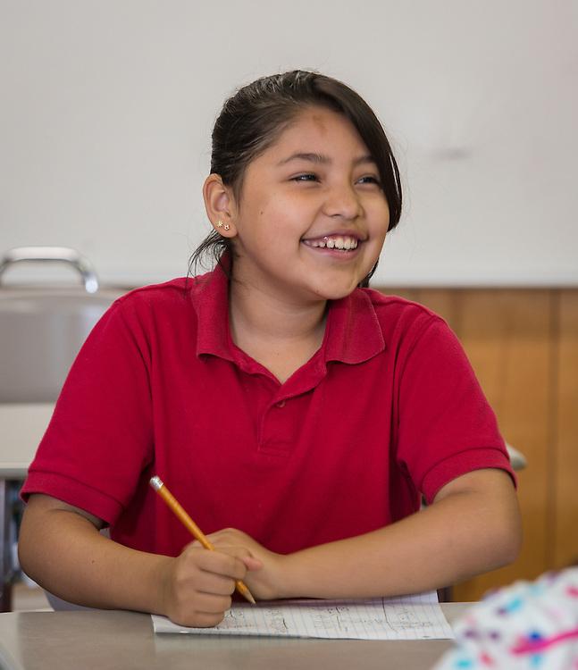 Carla Corona teaches fourth grade at Sutton Elementary School, April 27, 2015.