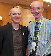20/11/2014  repro free  Declan Gibbons Galway Film Centre and Dennis Hegarty Success online at the Galway Bay Hotel for the two day conference Meet West attracting over 400 business people from around Ireland for the largest networking event in the Country . Photo:Andrew Downes