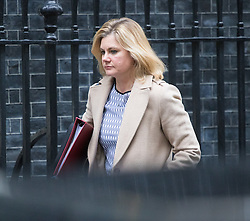 Downing Street, London, January 10th 2017. Education Secretary Justine Greening leaves the weekly UK cabinet meeting at 10 Downing Street as the new Parliamentary term begins.