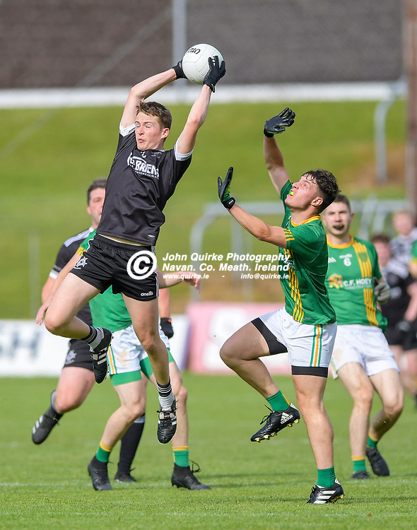 Mark McCormack (Walterstown) catches a high ball,    in the Castletown v Walterstown, 2020 Corn na Boinne Final match, at Pairc Tailteann, Navan.<br /> <br /> Photo: GERRY SHANAHAN-WWW.QUIRKE.IE<br /> <br /> 02-08-2021